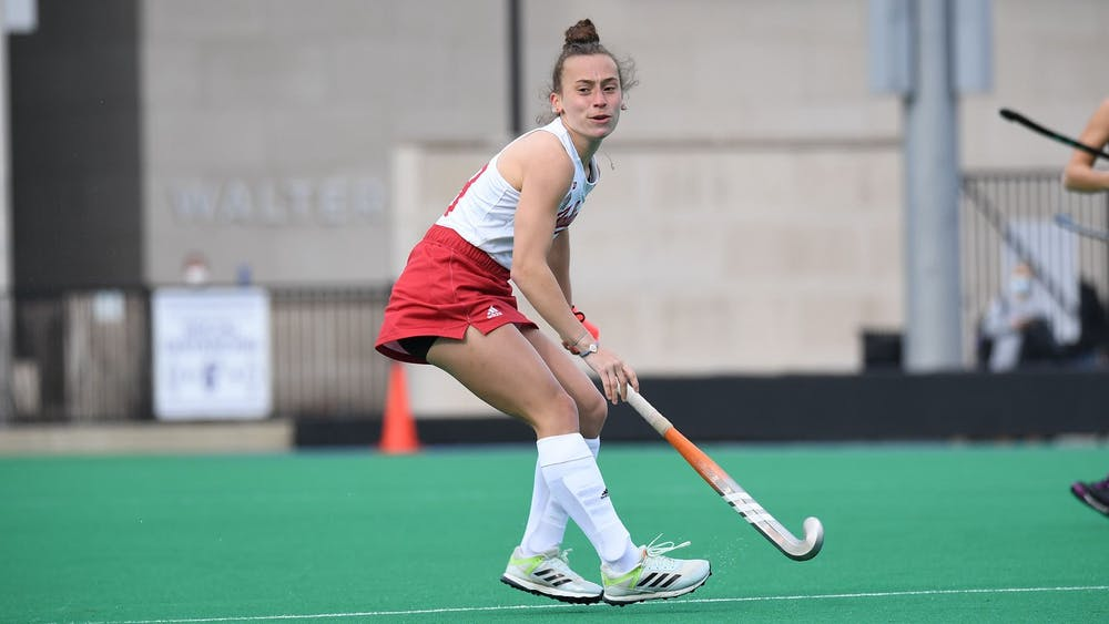 IU freshman Taylor Etling competes in a field hockey match against Maryland on March 19. Maryland beat IU 5-0.