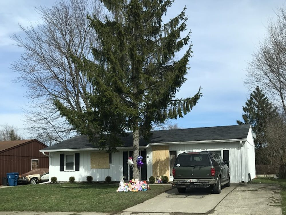 This is the home where 1-year-old Malaysia Robson was fatally shot Thursday evening. It is in the 3500 block of Wittfield Street in east Indianapolis.