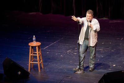 Comedian Patton Oswalt performs on stage Thursday evening at the Buskirk-Chumley as part of the Limestone Comedy Festival.