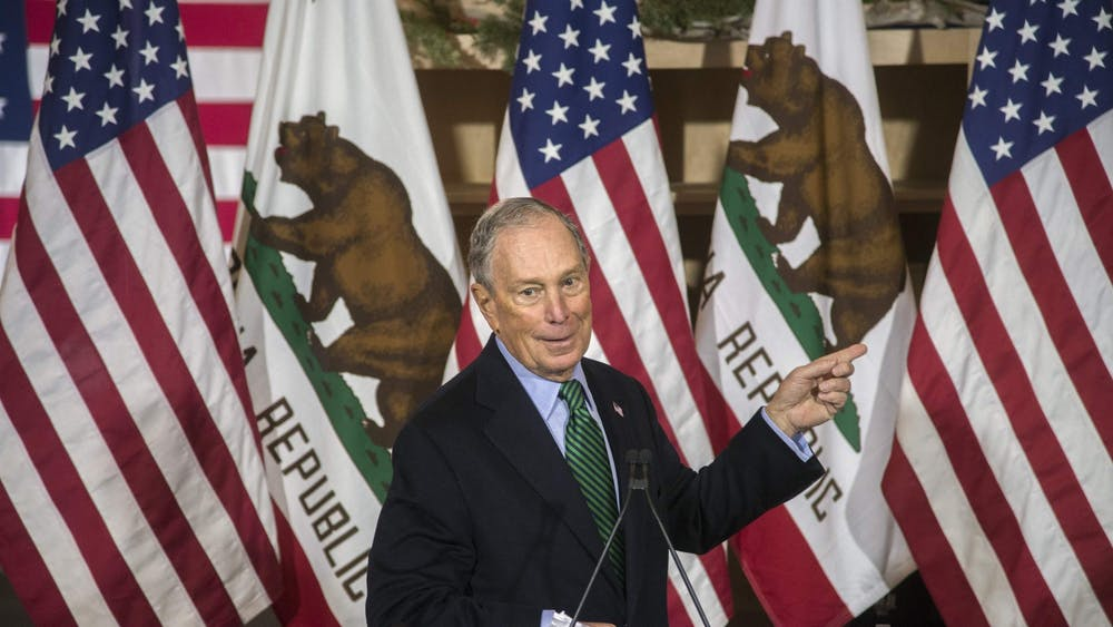 Presidential candidate and former New York Mayor Michael Bloomberg speaks at a campaign event held at Trail Coffee Roasters in downtown Stockton. Stockton Mayor Michael Tubbs formally endorsed Bloomberg at the event.