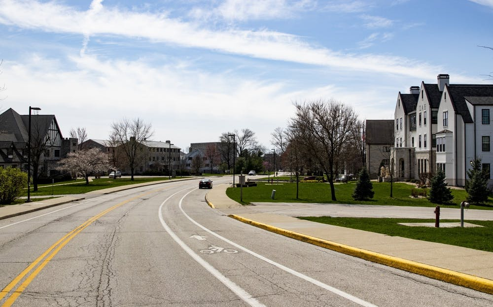 <p>A car sits parked March 30, 2020, on North Jordan Avenue. As vaccination rates improve, capacity for dorms and Greek houses could increase from the current 75% capacity, but no definite changes have been announced, Monroe County Health Administrator Penny Caudill said Wednesday.</p>