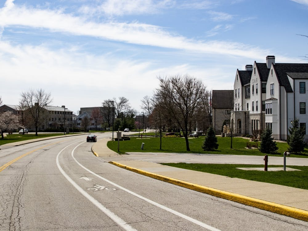 A car sits parked March 30, 2020, on North Jordan Avenue. As vaccination rates improve, capacity for dorms and Greek houses could increase from the current 75% capacity, but no definite changes have been announced, Monroe County Health Administrator Penny Caudill said Wednesday.