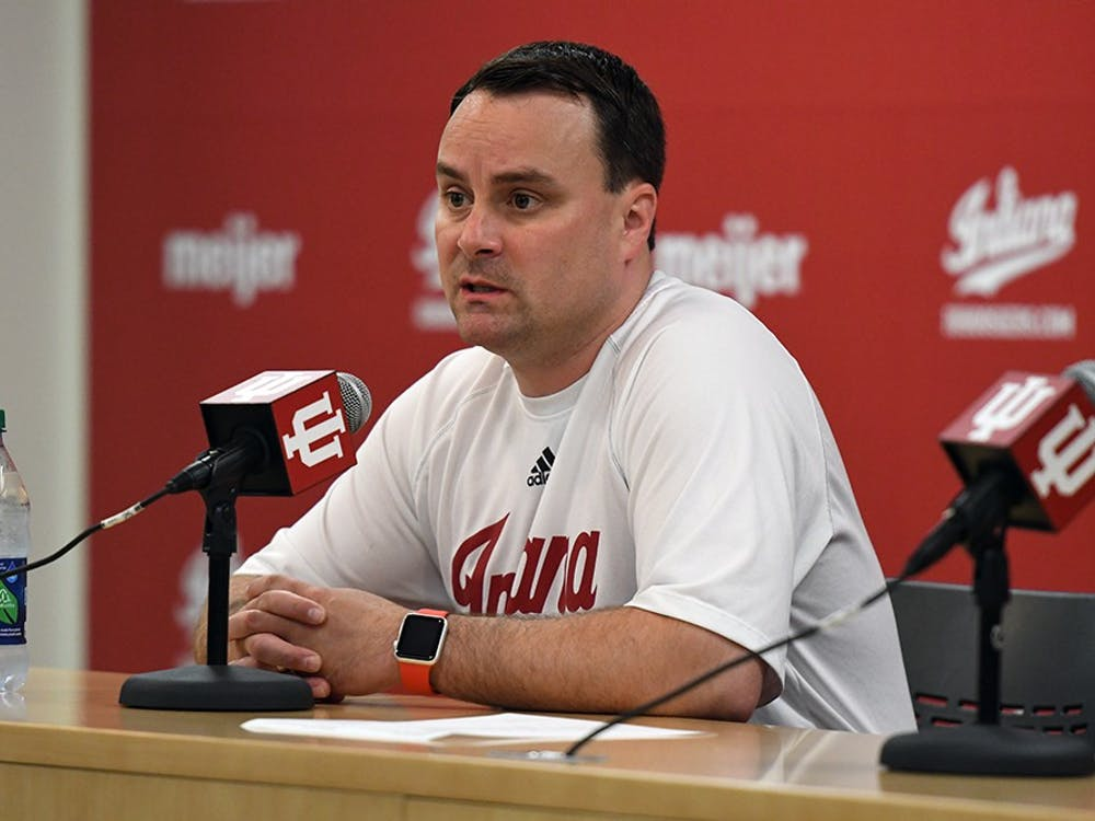 Head Coach Archie Miller talks to the media during media availability Tuesday afternoon.   Miller took over after former head coach Tom Crean was fired.
