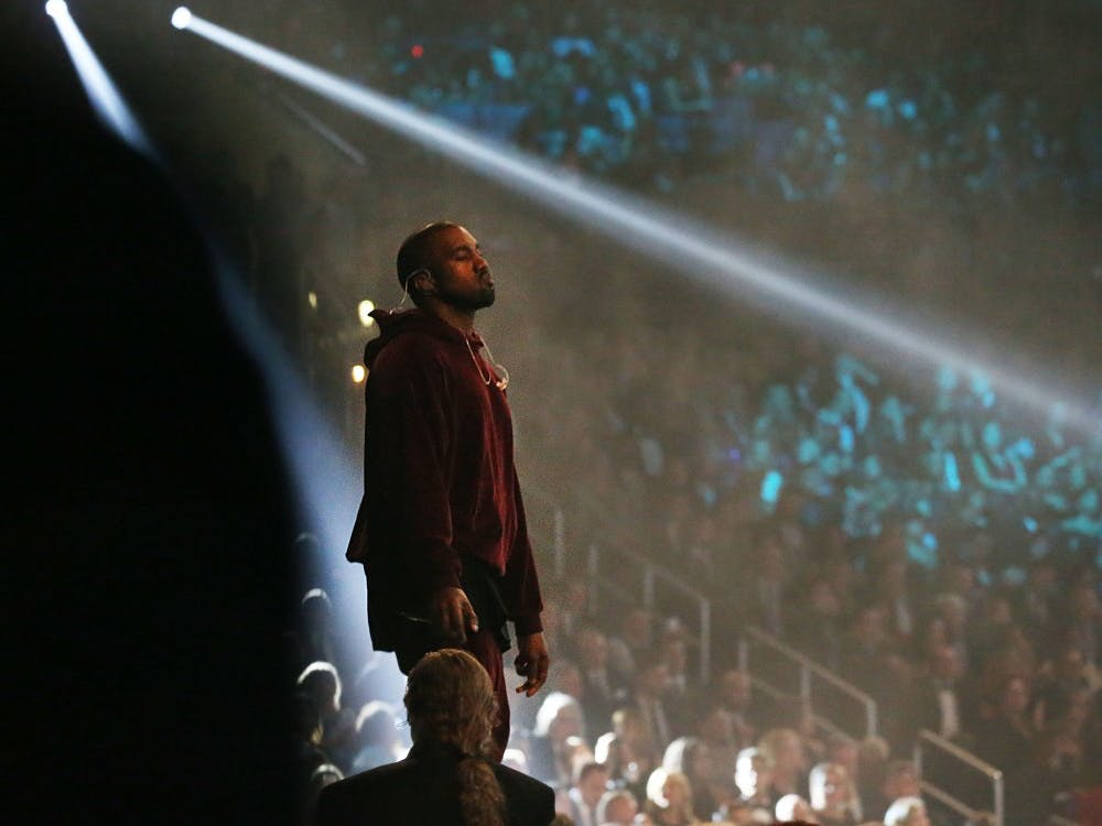 Kanye West performs at the 57th Annual Grammy Awards at Staples Center in Los Angeles on Sunday, Feb. 8, 2015. (Robert Gauthier/Los Angeles Times/TNS)