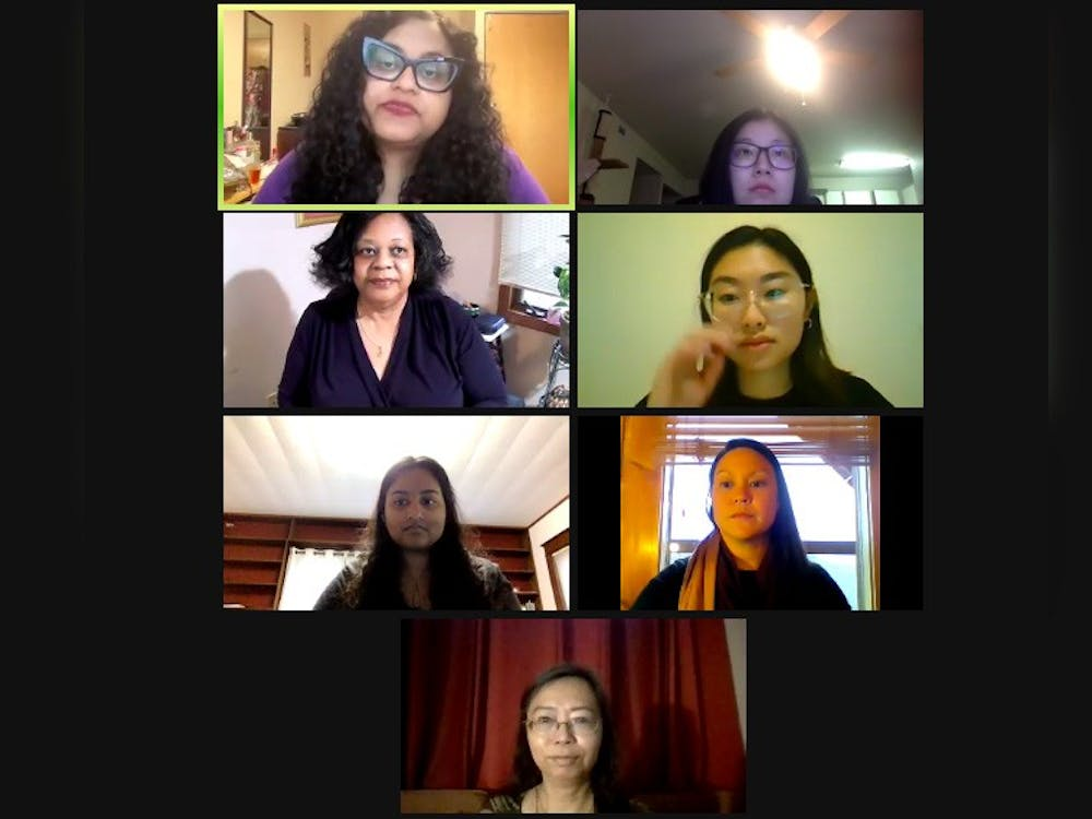 """A screenshot from the """"Justice forAsian American Pacific Islander"""" event is pictured. The IU Asian Culture Center offered the event on Zoom Tuesday night to commemorate the victims of anti-Asian violence in Atlanta last week."""