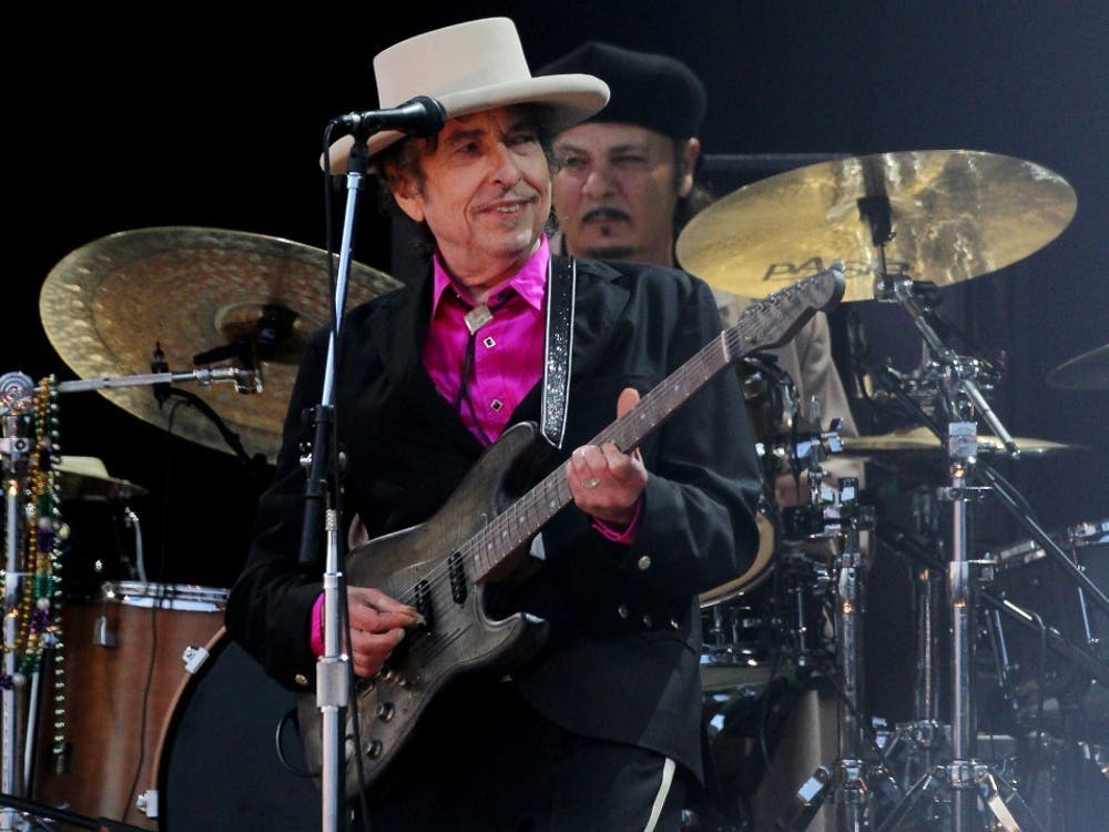 """Bob Dylan performs in 2010 in London. Dylan will perform at IU Auditorium on Nov. 7 as part of his """"Rough and Rowdy Ways"""" world tour."""