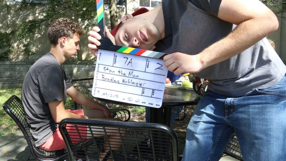 """Bradley Kohlmeier, a senior majoring in cinema and media arts, is in the process of creating a comedic film for independent study. He is the director, editor and head producer of the short film, titled """"Stan the Man."""" The film involves a group of freshmen trying to fit in on their college campus."""