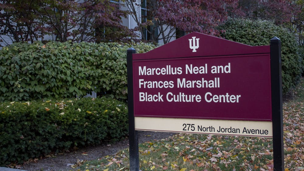 The sign for the Neal-Marshall Black Culture Center is seen in October 2019.
