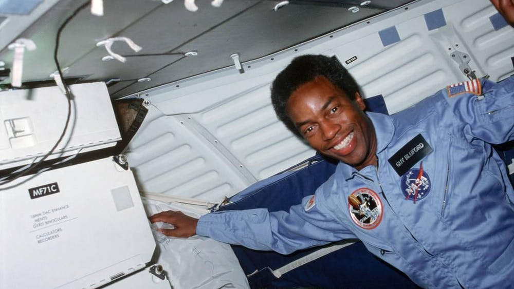 Guion Bluford became the first African American to fly in spacewhen he launched aboard Challenger's STS-8 mission on Aug. 30, 1983.