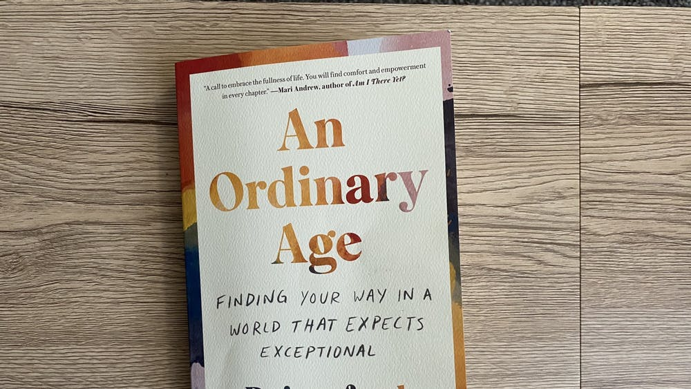 """Rainesford Stauffer's """"An Ordinary Age: Finding Your Way in a World That Expects Exceptional"""" appears. The book discusses the pressures society places on young people and is available for pre-order."""