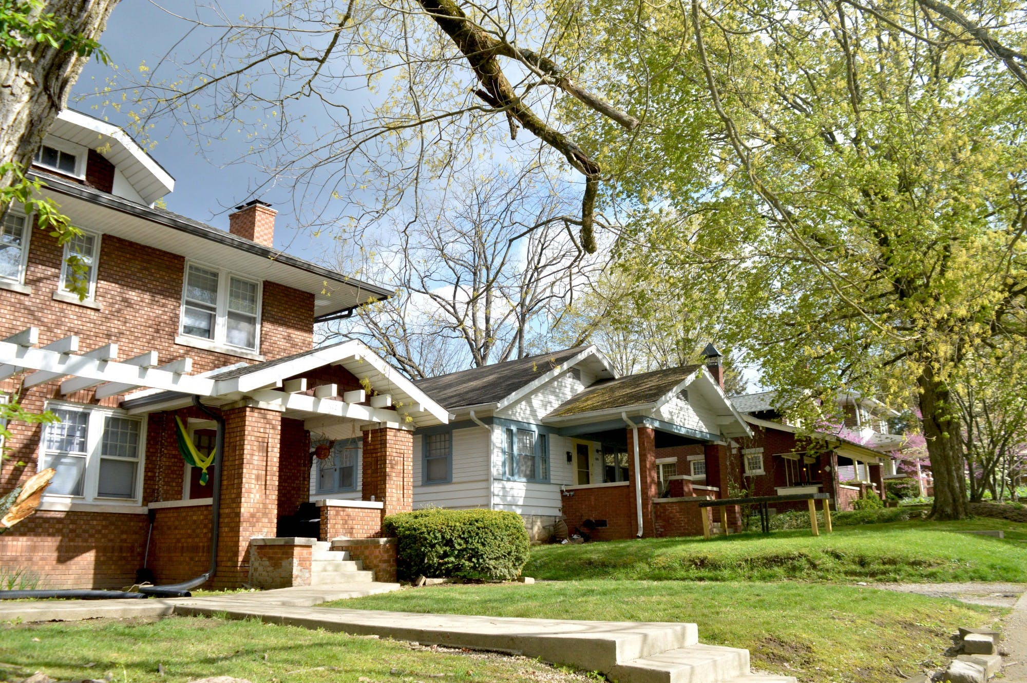 Houses in Maple Heights neighborhood appear April 21 in Bloomington. Maple Heights is one of the multiple core neighborhoods in Bloomington. Residents have raised concerns about increased density, students and quality of life, if the UDO amendments are passed.
