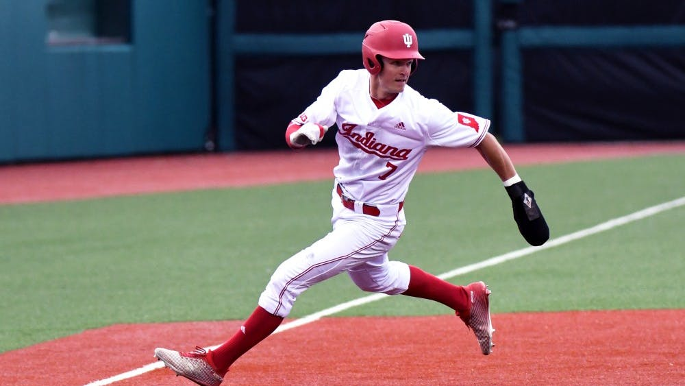 Then-sophomore infielder Matt Gorski rounds third base against Cincinnati on March 6 at Bart Kaufman Field. Gorski is playing for the Harwich Mariners this summer.