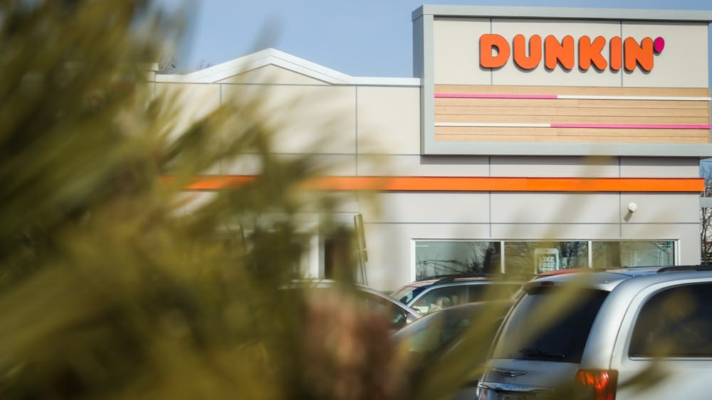 Dunkin' is located at 300 S. College Mall Road. The popular national chain restaurant opened Dec. 7 and has received a large amount of foot traffic since.