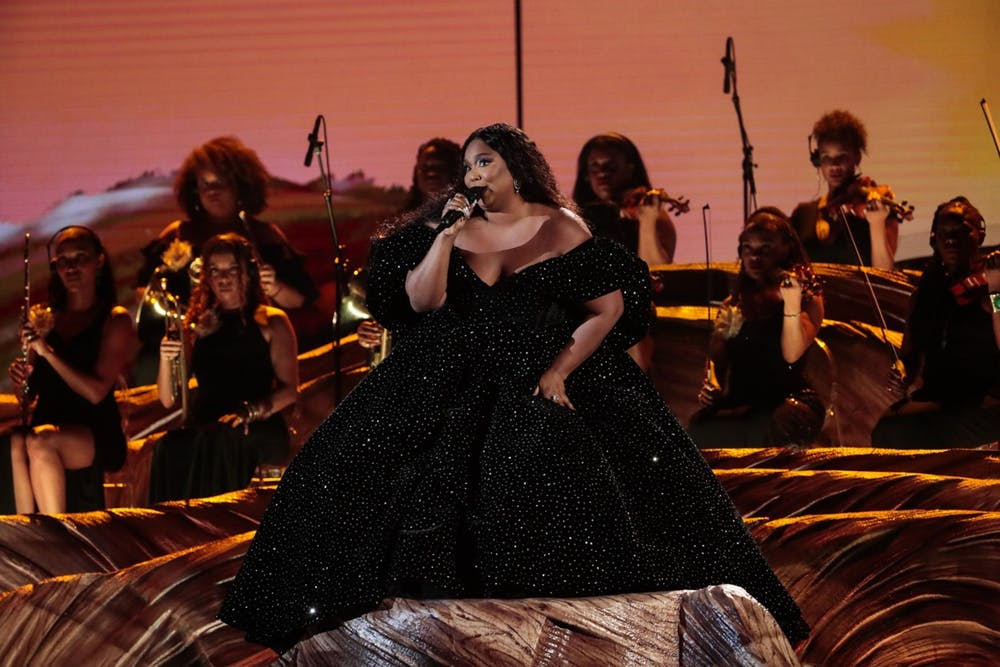 <p>Lizzo performs at the 62nd <em>Grammys</em> Awards on Jan. 26, 2020, in Los Angeles.<strong> </strong>Ellise Smith, IU Ph.D. student and founder of Fatness Fiction, said body image means being able to wake up and not have to worry about if you are valid or not.</p>