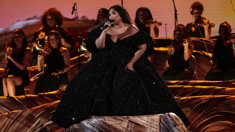 Lizzo performs at the 62nd Grammys Awards on Jan. 26, 2020, in Los Angeles. Ellise Smith, IU Ph.D. student and founder of Fatness Fiction, said body image means being able to wake up and not have to worry about if you are valid or not.