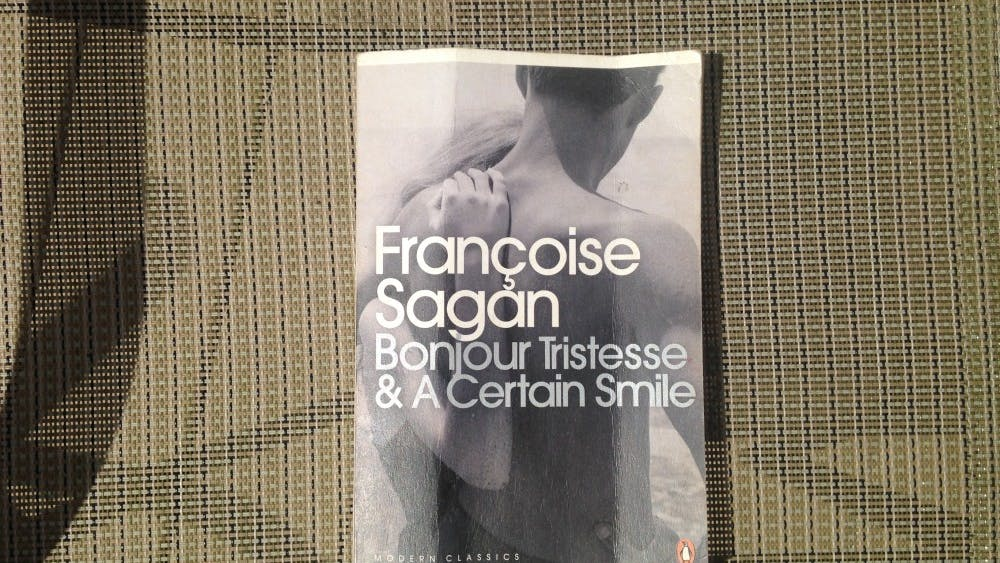 """Bonjour Tristesse"" is a novel by Françoise Sagan. It was published in 1954, when the author was 18."
