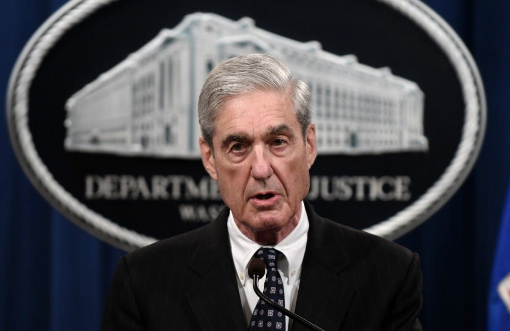<p>Special counsel Robert Mueller makes a statement about the investigation into Russian interference in the 2016 election at the Justice Department on May 29, 2019 in Washington, D.C. </p>