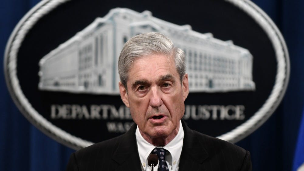 Special counsel Robert Mueller makes a statement about the investigation into Russian interference in the 2016 election at the Justice Department on May 29, 2019 in Washington, D.C.