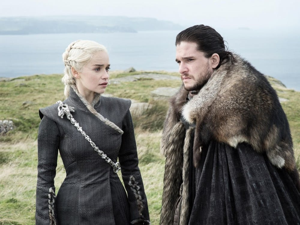 """Daenerys Targaryen and Jon Snow stand outside of Dragonstone in the penultimate episode """"Beyond the Wall."""" The season's final episode, """"The Dragon and the Wolf,"""" aired Aug. 26, with about 16.5 million people tuning in to watch."""