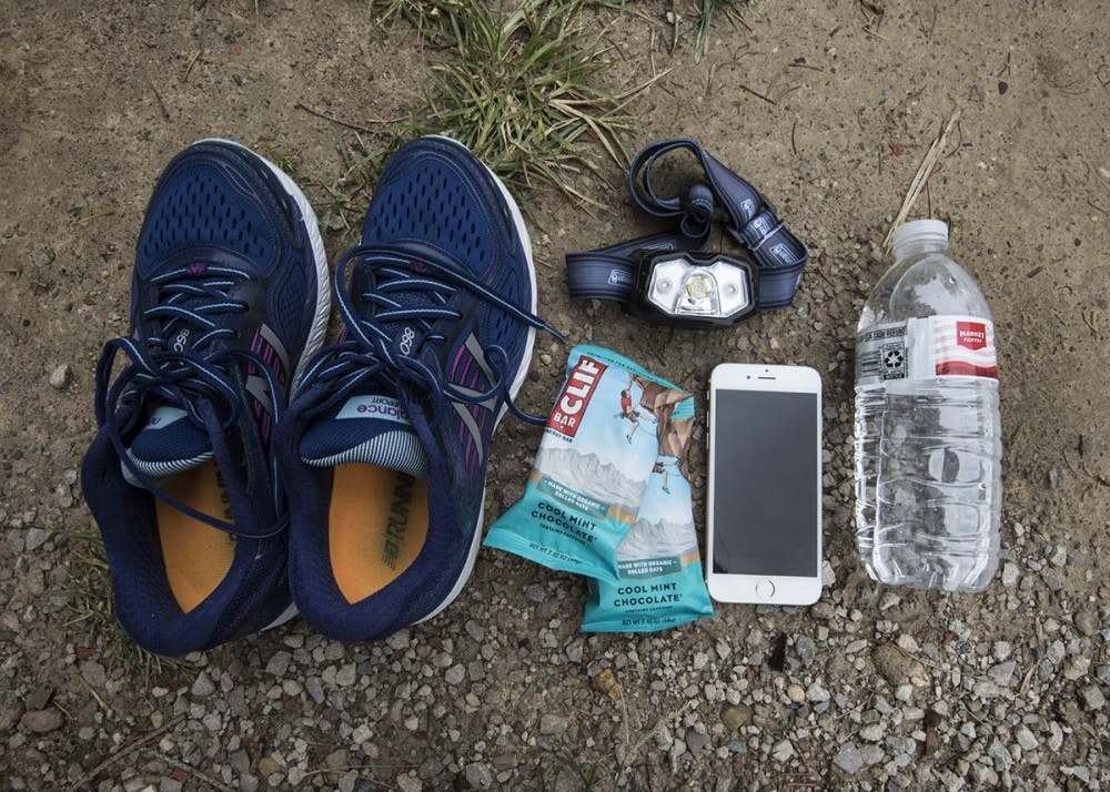 <p>Freshman Lukas Cavar was trapped in Sullivan Cave for three days and three nights. Chocolate chip Clif bars, a headlamp, tennis shoes and a water bottle are examples of some of the things Cavar had with him.</p>