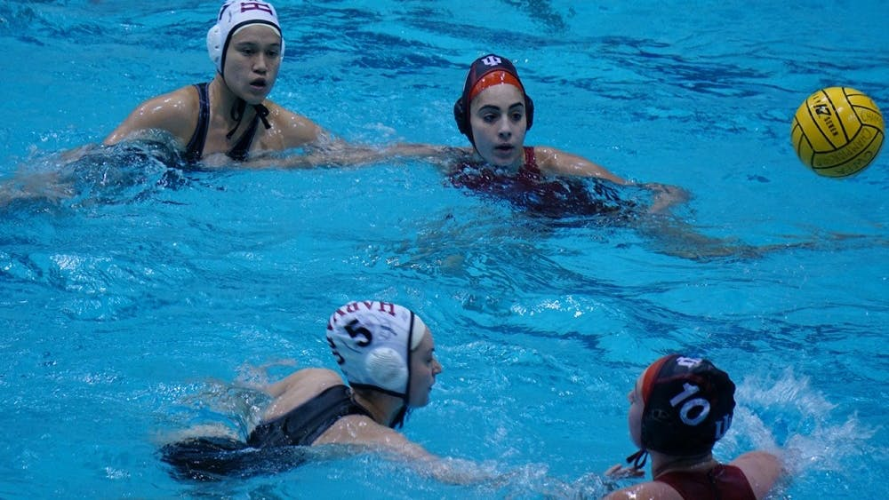 IU women's water polo team faces off against Harvard University in the Collegiate Water Polo Association Championship in April, 2017. IU will be hosting their first home invitational this weekend.