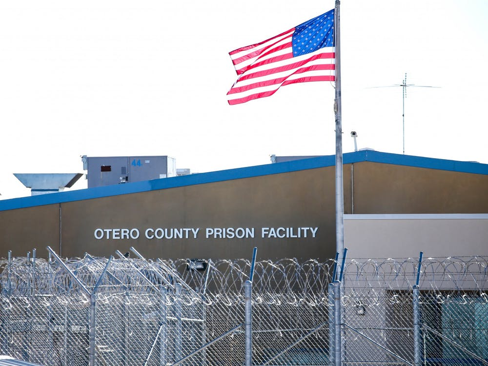 The Otero County Prison Facility in Chaparral, New Mexico, is one of seven for-profit prison and detention facilities in the state. The prison, and an adjacent processing center for Immigration and Customs Enforcement detainees, are operated by the Management and Training Corporation.