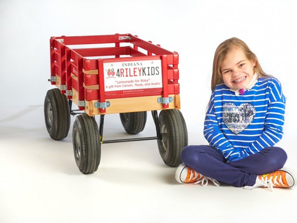 Monroe County fourth-grader Marlee Davenport was chosen by Riley Children's Foundation to be featured on Riley billboards. Marlee spent six months at Riley after birth when doctors discovered she was missing most of her rib cage and was unable to breathe on her own.