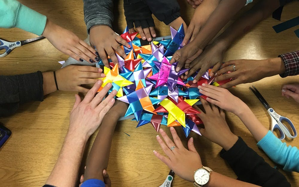 <p>Students and community members have woven countless stars as part of One Million Stars to End Violence at locations such as Middleway House, the Boys and Girls Club, and Girls Inc. The Lotus Education & Arts Foundation is spending the year focusing on this cause, and Mathers Museum of World Cultures and the Eskenazi Museum of Art have also participated in the weaving of stars. Mathers will have a weave-in Monday for&nbsp;Martin Luther King Jr. Day.</p>