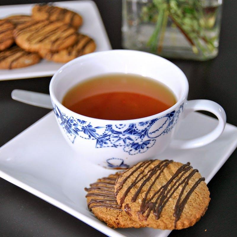 Sweet cream scones and tea.