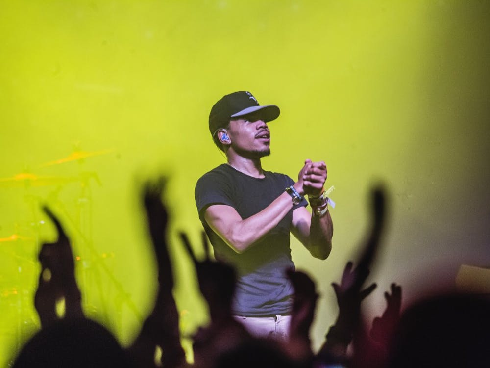 Chance the Rapper performs in the group 'The Social Expirement' at the Austin Music Hall on March 20, 2015 in Austin, Texas. (Lenny Gilmore/RedEye/TNS)