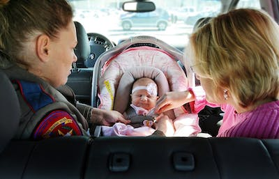 As part of Child Passenger Safety Week, Safe Kids Austin led by the Children's Hospital of Austin sponsored a free child car seat inspection in 2018.