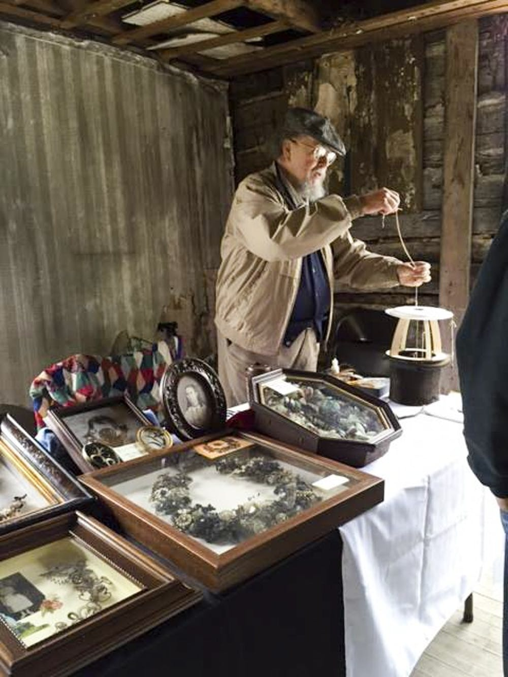 The Hillforest Victorian Museum in Aurora, Indiana, is on the day of the museum's celebration of Indiana's bicentennial.