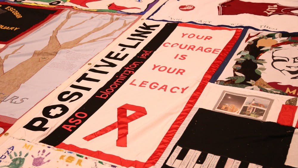 IU's AIDS Memorial Quilt Committee presents the 30th anniversary ceremony on Tuesday in the IMU Alumni Hall. The committee addressed myths and facts associated with HIV.