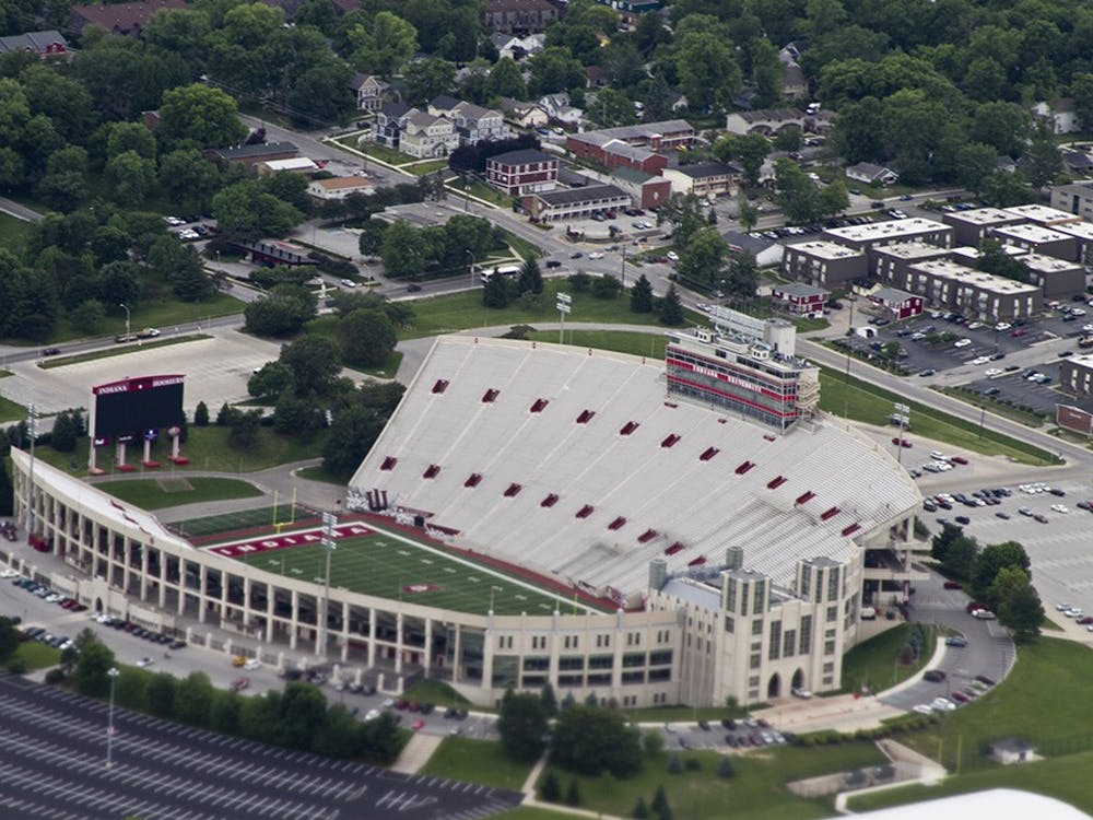 A view of Memorial Stadium from a 1929 Ford Tri-Motor airplaine Thursday.