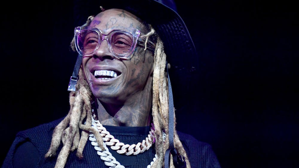 Lil Wayne performs onstage during the EA Sports Bowl at Bud Light Super Bowl Music Fest on Jan. 30 in Miami.