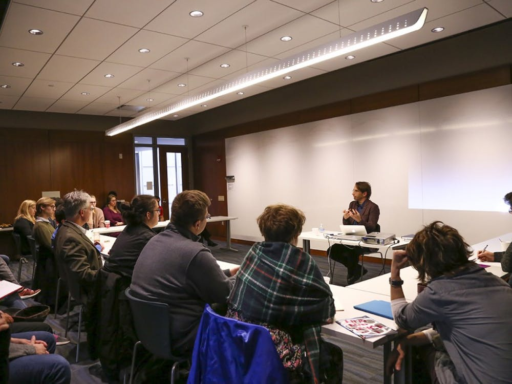 Dr. Leonidas Karakatsanis, assistant director at the British Institute at Ankara, explores the efforts of Turks and Greeks to overcome a symbolic wall of hatred. The talk was held in the Global and International Studies Building.