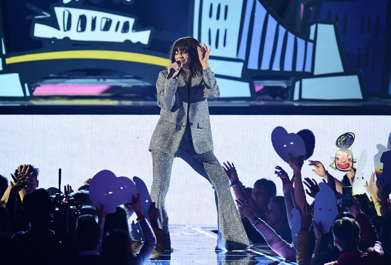 Charli XCX performs during the MTV Europe Music Awards on Nov. 12, 2017 at the SSE Arena in London.