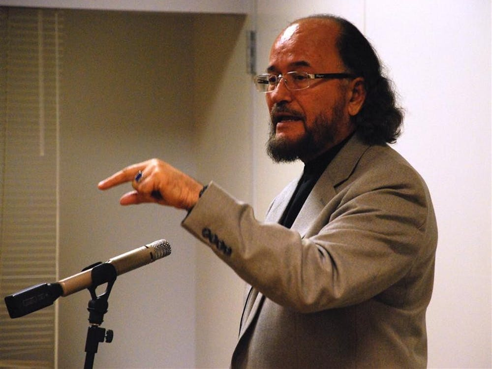 Professor Nazif Shahrani speaks about the current situation in Afghanistan in 2009 at the Monroe County Public Library. Shahrani said his family in Afghanistan worries about his safety in the U.S. after Donald Trump's election as president.
