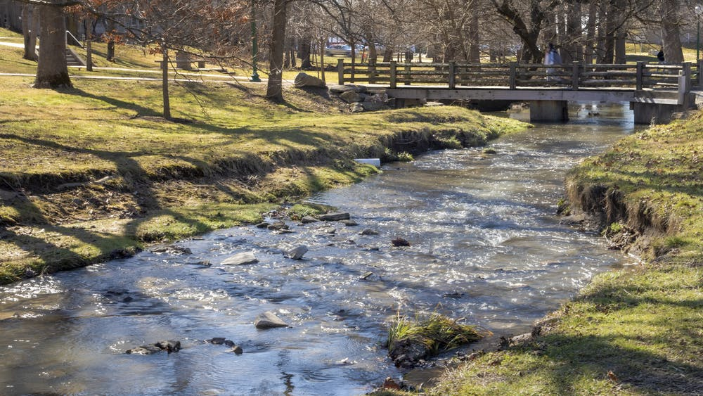 High waters appear in the Campus River on Monday. A flood warning has been issued until Thursday for Monroe County, according to the National Weather Service.