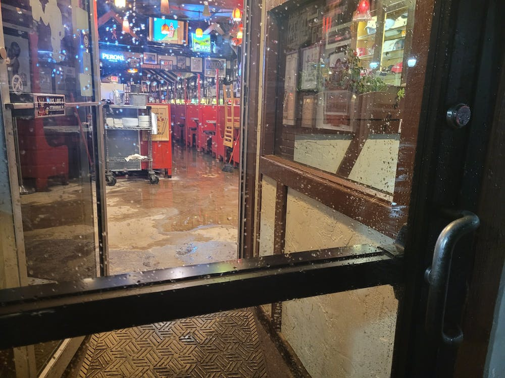 The inside of Nick's English Hut is pictured June 18 after a flood that occured on Kirkwood Ave.