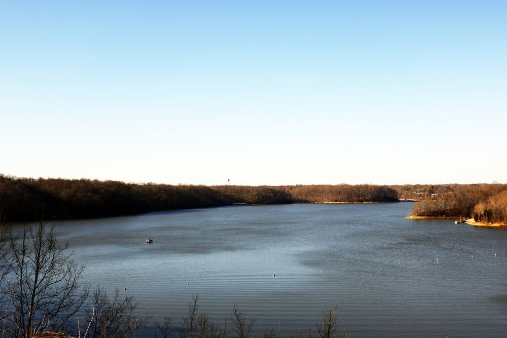 <p>Lake Monroe is pictured. Bloomington and Indiana park officials are asking people to stay safe when going outside by following Center for Disease Control guidelines and staying close to home.</p>