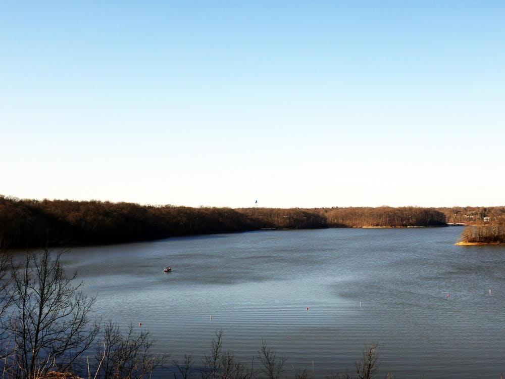 Lake Monroe is pictured. Bloomington and Indiana park officials are asking people to stay safe when going outside by following Center for Disease Control guidelines and staying close to home.