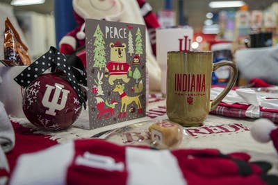 T.I.S. College Bookstore lays out a spread in preparation for the holiday season. T.I.S. will be offering a free T-shirt on orders over $50 on Black Friday, Nov. 23, and Nov. 24.