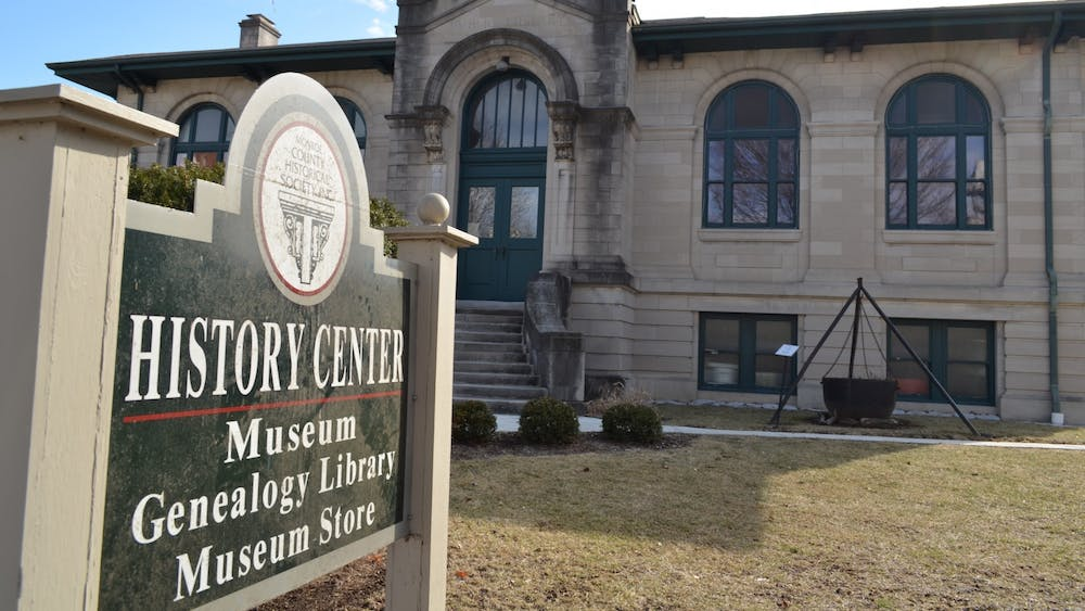 """The Monroe County History Center is located on East Sixth Street. The center won a 2021 American Association for State and Local History Award of Excellence for its """"Votes for Women: The Women's Suffrage Movement in Monroe County"""" exhibit."""