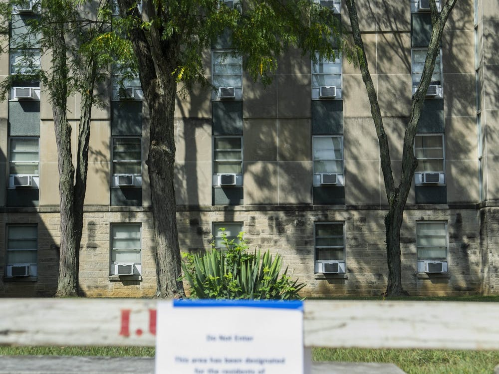 Ashton Residence Center, the dormitory used for quarantined on-campus students, is seen on Sept. 1, 2020. According to new IU rules, fully-vaccinated people who are contact traced do not have to quarantine.