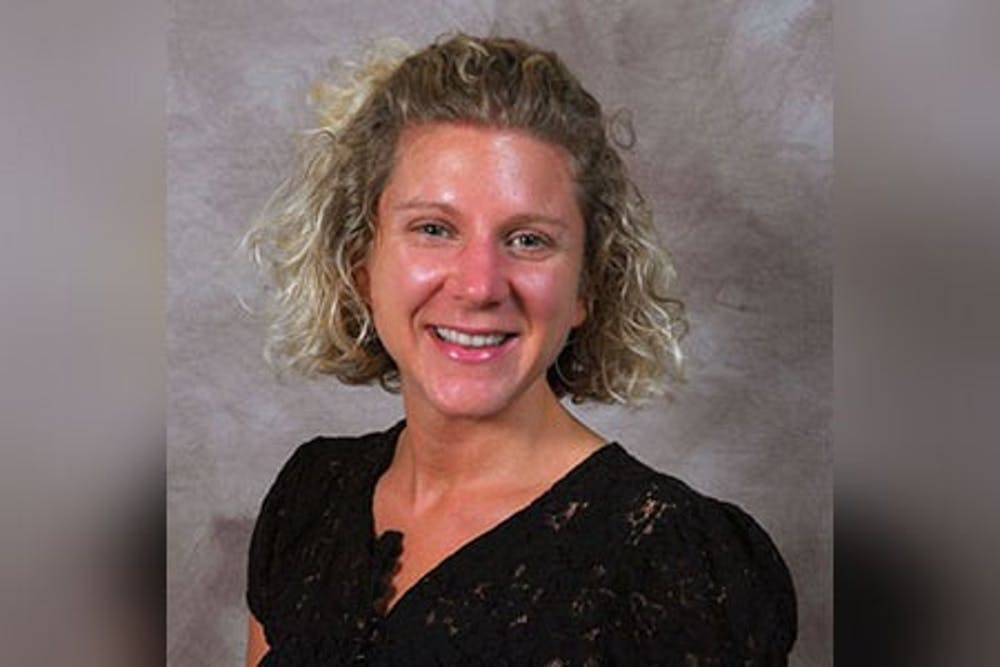<p>IU lecturer Erin Cooperman is pictured. Cooperman took the oath of office to become an MCCSC Board member at the MCCSC Board of Trustees meeting Tuesday night.</p>