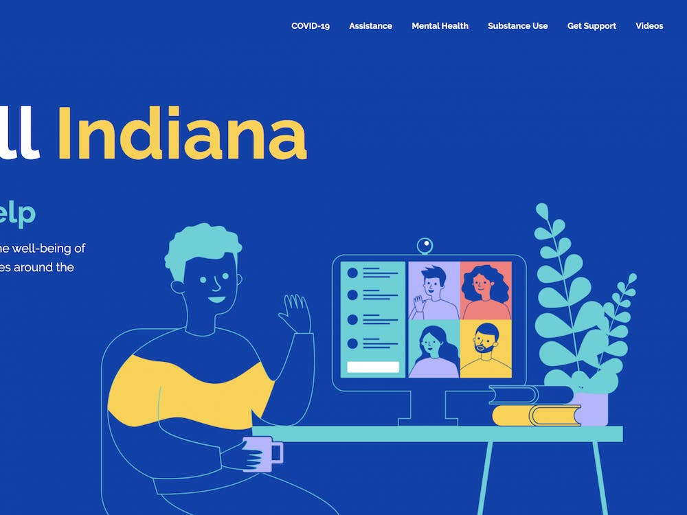The Be Well Indiana website provides resources for mental health and substance abuse. It is one of several website and phone numbers for people needing help with mental health, addiction or abuse.
