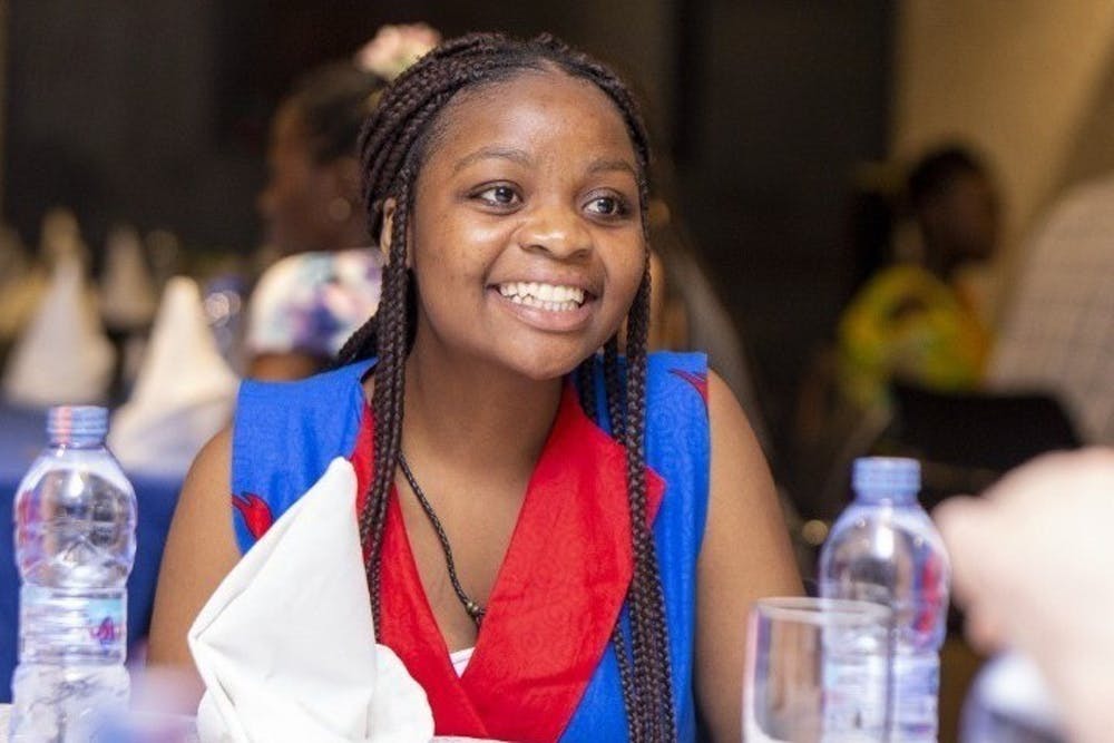 <p>Writer Agness Lungu smiles in 2020 at a women&#x27;s conference in Zambia. Lungu writes that the excuse of some African names being too difficult to pronounce may be erasing history.</p>