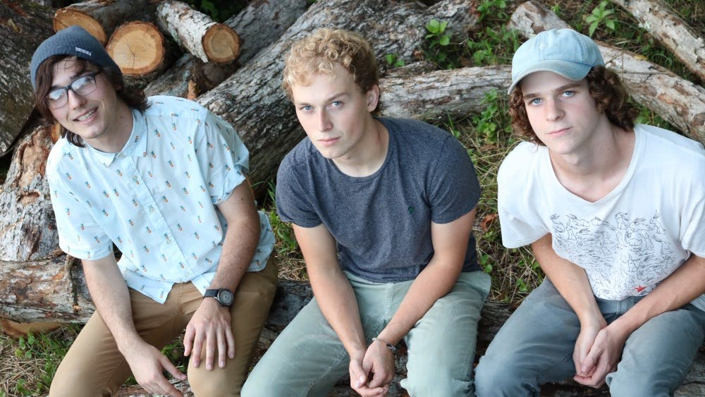 Bloomington-based band A Healthy Alternative For Better Living poses for a photo. From left to right the members are Alex Kessler, Nathaniel Reed and Isaiah Smith.
