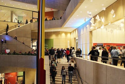 Visitors explore the exhibits and newly renovated space Nov. 7, 2019, in the Eskenazi Museum of Art. The museum has been closed since May 2017.